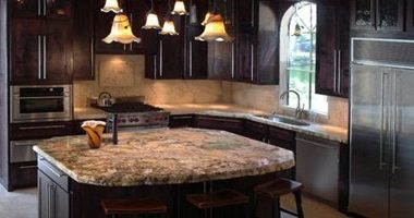 Right at the start, we decided that the focal point of the kitchen would be the island. At that time we were unsure about what material we would use for the island top, so we went on a quest. We spent several days visiting virtually all of the natural stone distributors in the Dallas/Ft. Worth area